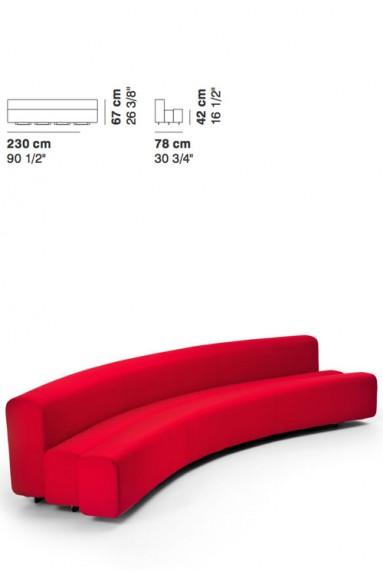 La Cividina - LaCividina Osaka sofa 230 cm Pierre Paulin