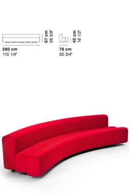 La Cividina - LaCividina Osaka sofa 280 cm Pierre Paulin