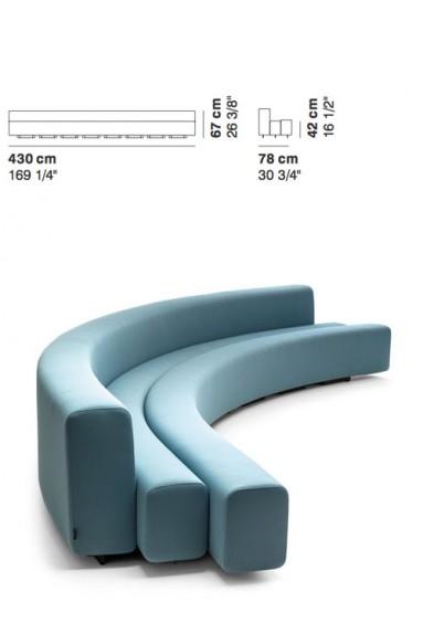La Cividina - LaCividina Osaka sofa 430 cm Pierre Paulin