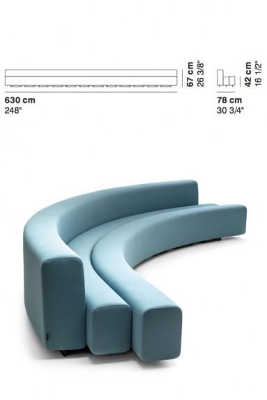 La Cividina - LaCividina Osaka sofa 630 cm Pierre Paulin